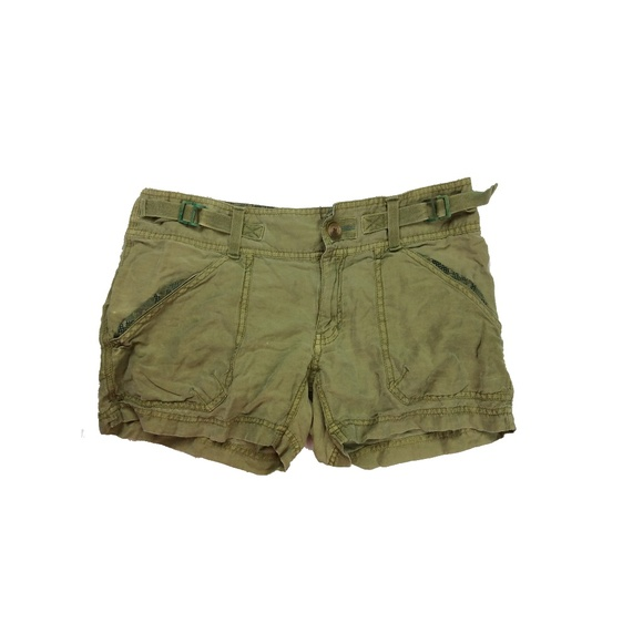 Free People Shorts Army Green Cargo Poshmark